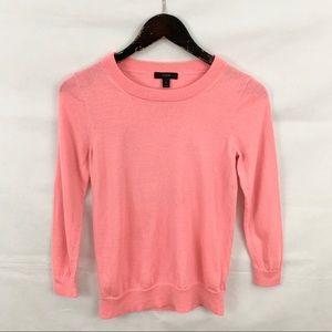 J. Crew Pink Pullover Merino Wool Tippi Sweater